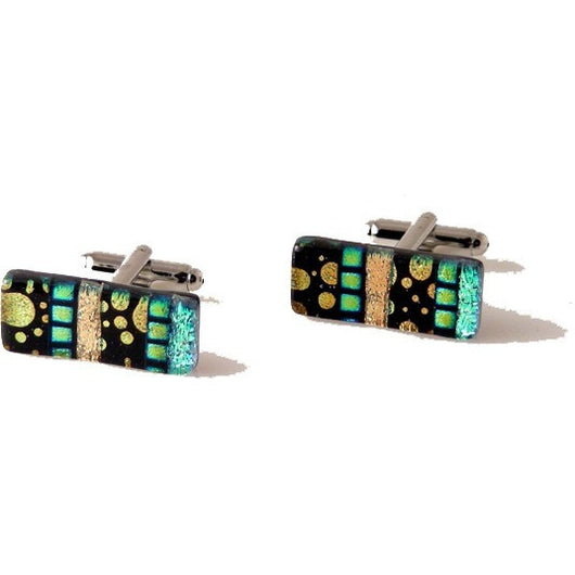 ECLIPLE HAND CRAFTED GLASS CUFFLINKS New Orleans Cufflinks