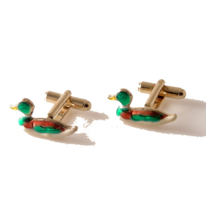HAND ENAMELED DUCK DECOY CUFFLINKS New Orleans Cufflinks