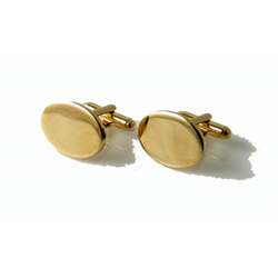 GOLD OVAL CUFFLINKS New Orleans Cufflinks