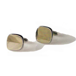 GOLD CUSHION SHAPED CUFFLINK New Orleans Cufflinks