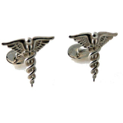 .925 STERLING SILVER CADUCEUS CUFFLINKS New Orleans Cufflinks