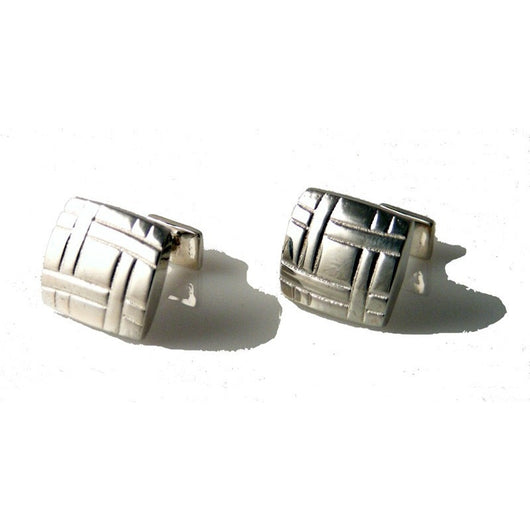 .925 STERLING SILVER LATTICE CUFFLINKS New Orleans Cufflinks