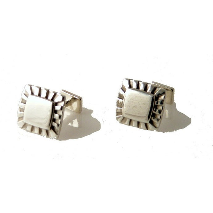 .925 STERLING SILVER SUNBURST CUFFLINKS New Orleans Cufflinks