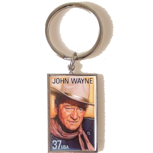 2004 JOHN WAYNE POSTAGE STAMP KEY RING New Orleans Cufflinks