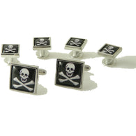 JOLLY ROGER STUD SET New Orleans Cufflinks