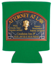 Load image into Gallery viewer, ATTORNEY AT LAW KOOZIE NEW ORLEANS CUFFLINKS