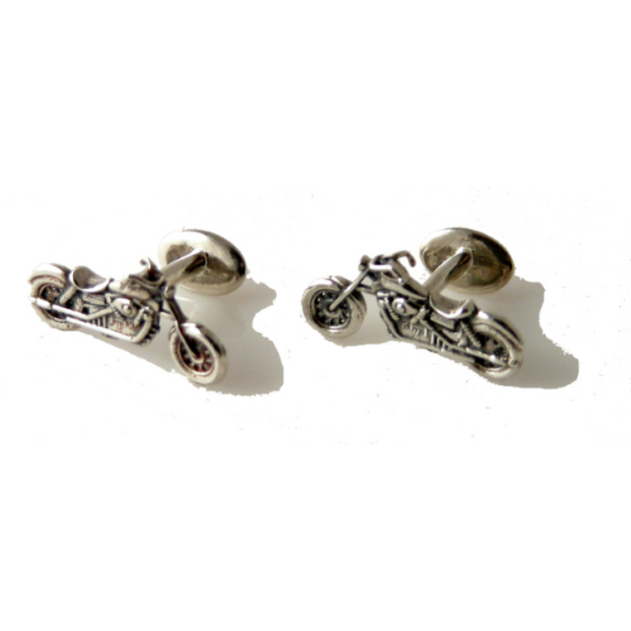 .925 STERLING SILVER MOTORCYCLE CUFFLINKS New Orleans Cufflinks