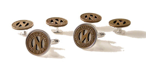 nasvhille token stud set new orleans cufflinks