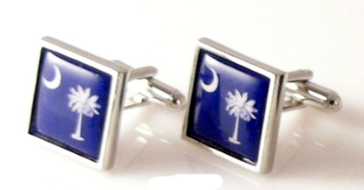 south carolina flag cufflinks new orleans cufflinks