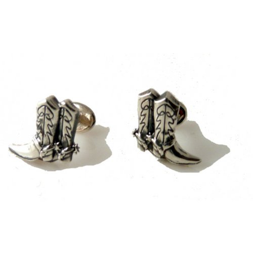 .925 STERLING SILVER COWBOY BOOT CUFFLINKS New Orleans Cufflinks