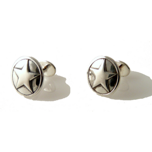 .925  STERLING  SILVER TEXAS STAR CUFFLINKS New Orleans Cufflinks