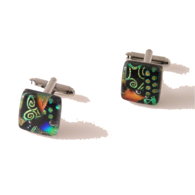 SYMPHONY HAND CRAFTED GLASS CUFFLINKS