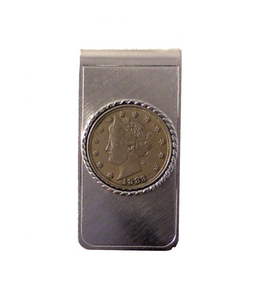 "AUTHENTIC "" V"" NICKEL MONEY CLIP"
