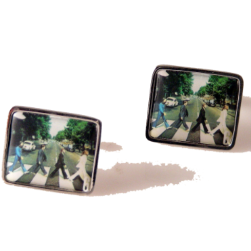 2007 THE BEATLES ABBEY ROAD STAMP CUFFLINKS New Orleans Cufflinks