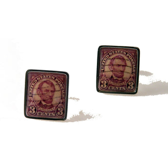1924 ABRAHAM LINCOLN STAMP CUFFLINKS New Orleans Cufflinks