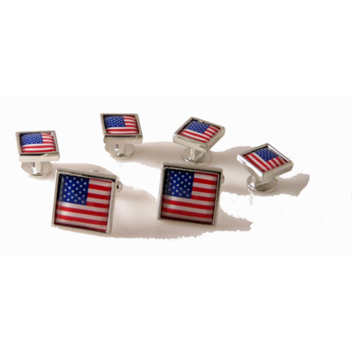 AMERICAN FLAG TUXEDO STUD SET New Orleans Cufflinks