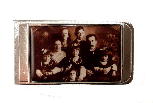 rectangle photo money clip new orleans cufflinks