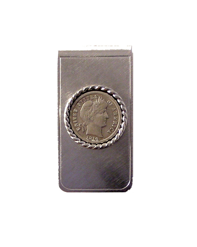barber dime money clip new orleans cufflinks
