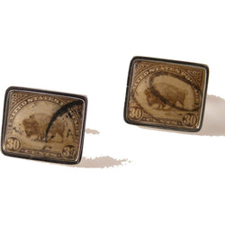 1931 BISON STAMP CUFFLINKS New Orleans Cufflinks