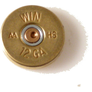 AUTHENTIC 12 GAUGE BRASS SHOTGUN SHELL LAPEL PIN New Orleans Cufflinks