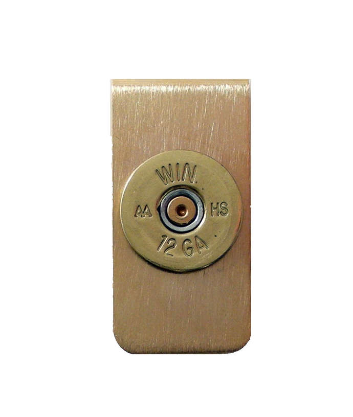 brass shotgun shell money clip new orleasns cufflinks