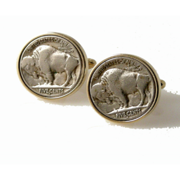 AUTHENTIC  BUFFALO NICKEL CUFFLINKS New Orleans Cufflinks