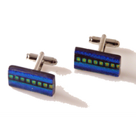 CENTER LINE HAND CRAFTED GLASS CUFFLINKS New Orleans Cufflinks