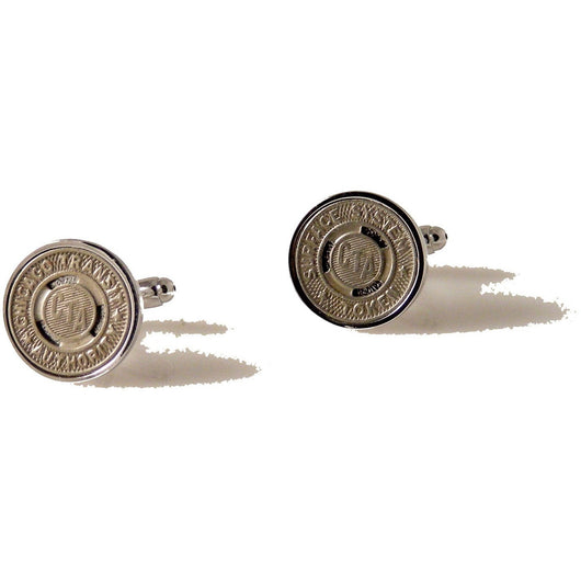 VINTAGE CHICAGO TRANSIT TOKEN CUFFLINKS