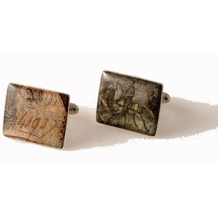 AUTHENTIC 1864 CONFEDERATE $10 BILL CUFFLINKS New Orleans Cufflinks