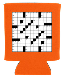 crossword puzzle koozie new orleans cufflinks
