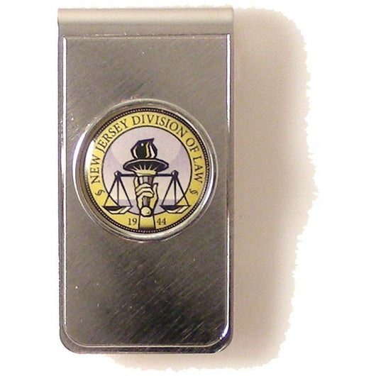 CUSTOM  SILVER ROUND LOGO MONEY CLIP New Orleans Cufflinks