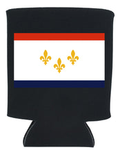 Load image into Gallery viewer, new orleans flag koozie new orleans cufflinks