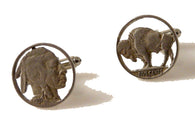 artisan cut buffalo nickel cufflinks new orleans cufflinks