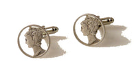 ARTISAN CUT MERCURY DIME CUFFLINKS