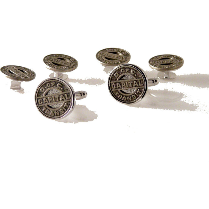 DISTRICT OF COLUMBIA TOKEN STUD SET New Orleans Cufflinks