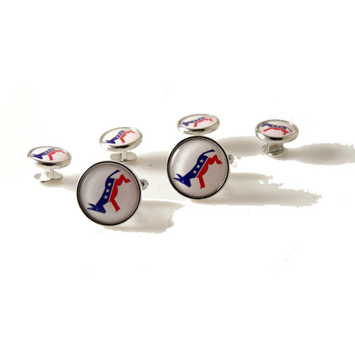 DEMOCRATIC PARTY STUD SET New Orleans Cufflinks