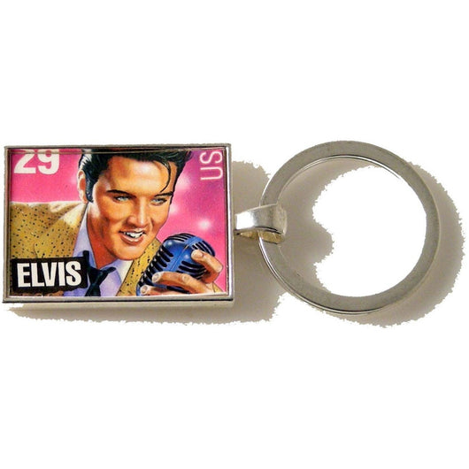 1993 ELVIS POSTAGE STAMP KEY RING New Orleans Cufflinks