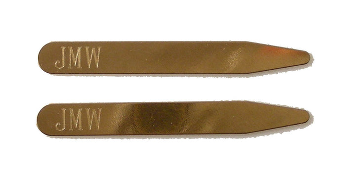 engraved brass collar stays new orleans cufflinks
