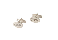 Load image into Gallery viewer,  STERLING SILVER ENGRAVED CUFFLNKS NEW ORLEANS CUFFLINKS