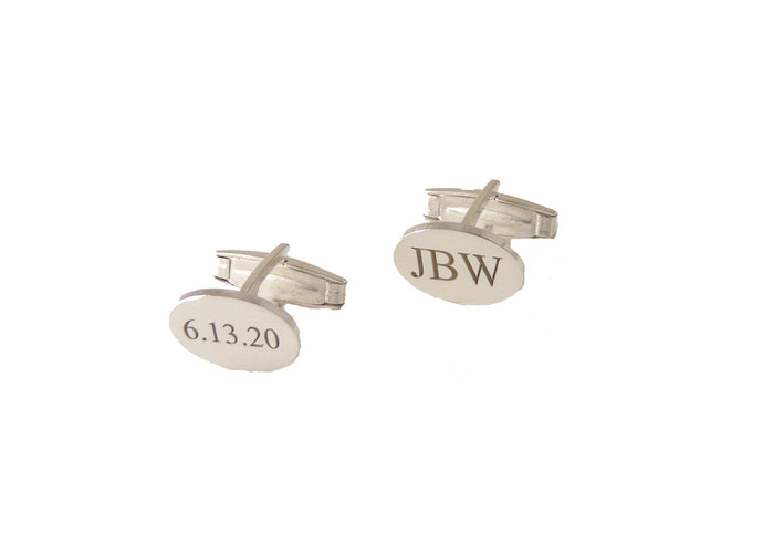 STERLING SILVER ENGRAVED CUFFLNKS NEW ORLEANS CUFFLINKS
