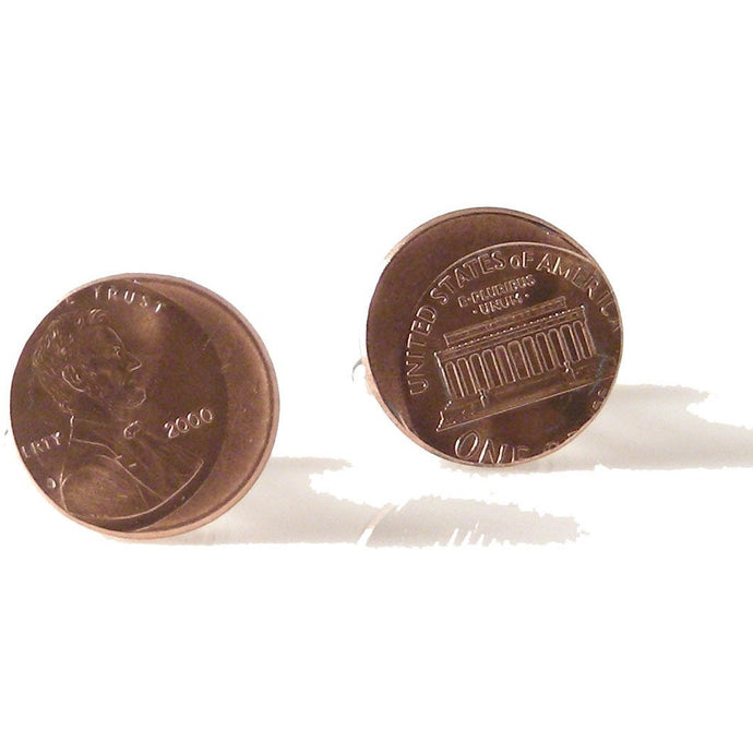 LINCOLN PENNY WITH ERROR CUFFLINKS New Orleans Cufflinks
