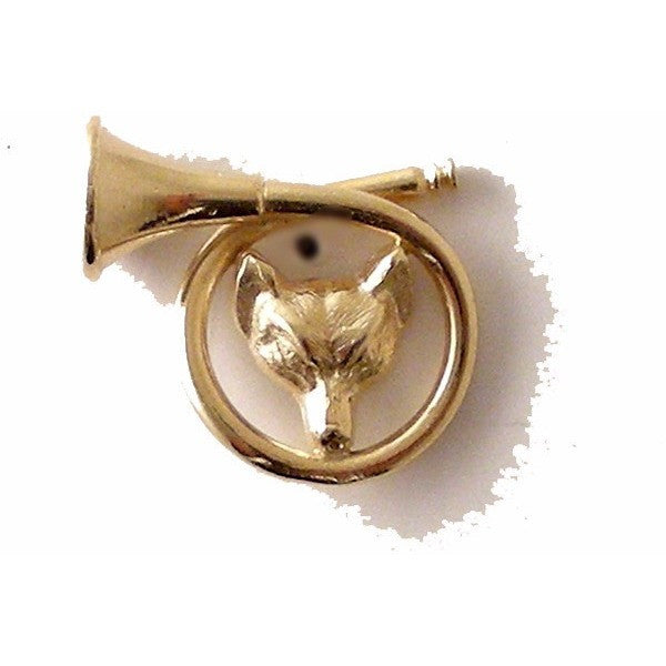 FOXnHEAD AND HUNTING HORN LAPEL PIN New Orleans Cufflinks