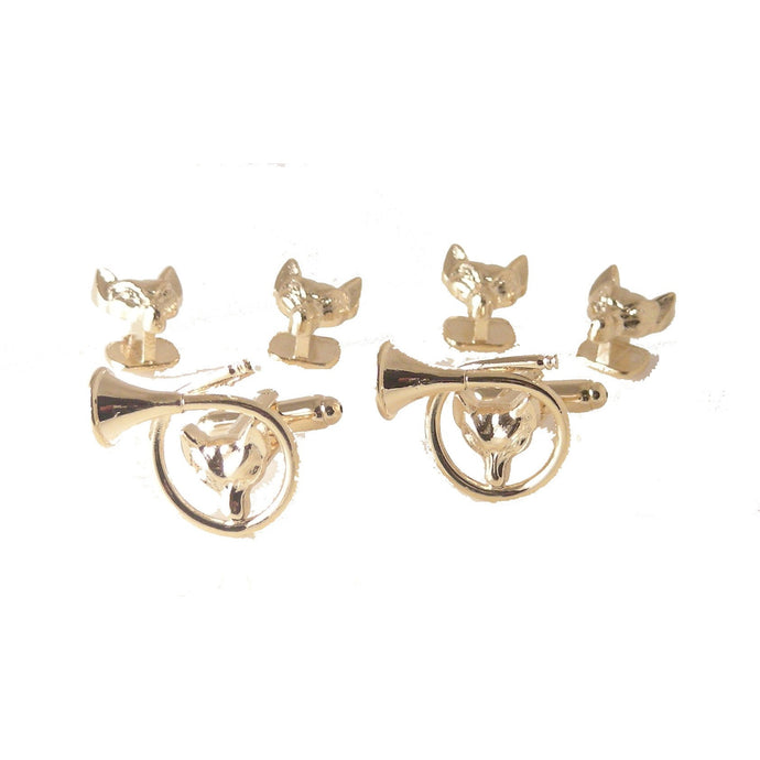 FOX HEAD STUD SET New Orleans Cufflinks