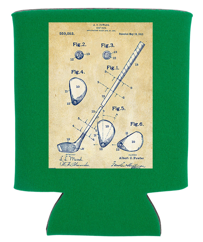 GOLF CLUB BLUEPRINT KOOZIE