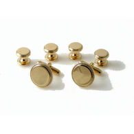 GOLD BEADED EDGE STUD SET New Orleans Cufflinks