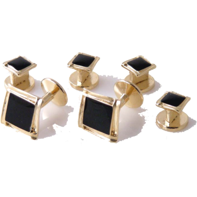 GOLD PICTURE FRAME STUD SET New Orleans Cufflinks