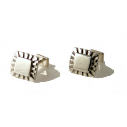SUNBURST STERLING SILVER CUFFLINKS