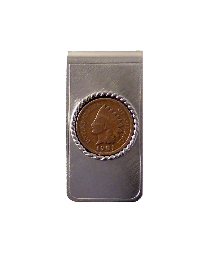 indian head penny money clip new orleans cufflinks
