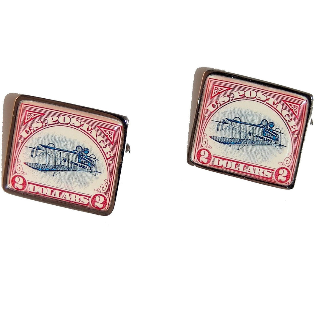2013 INVERTED JENNY  POSTAGE STAMP CUFFINKS New Orleans Cufflinks