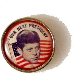 JFK CAMPAIGN BUTTON LAPEL PIN New Orleans Cufflinks
